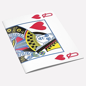The Queen of Hearts A6 Notebook